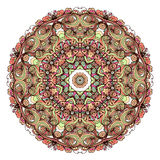 Ethnic tribal round ornament. Colorful mandala for meditation. Royalty Free Stock Images