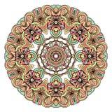 Ethnic tribal round ornament. Colorful mandala for meditation. Royalty Free Stock Photos