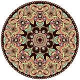 Ethnic tribal round ornament. Colorful mandala for meditation. Stock Photos