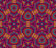Ethnic tribal seamless colorful Geometric print. Abstract seamless pattern ornamental. Festive colorful background design. Geometrical Ethnic  Tribal  Print Stock Image