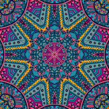 Ethnic tribal  seamless pattern ornament. Vector Tribal indian vintage ethnic seamless design. Festive colorful mandala pattern Royalty Free Stock Image
