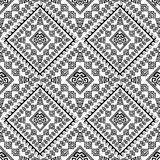 Ethnic tribal style ancient greek seamless pattern. Vector monochrome black and white geometric background. Abstract geometrical ornaments. Geometry shapes Royalty Free Stock Photo