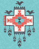 Ethnic tribal vintage ornament Stock Images