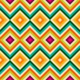 Ethnic tribal zig zag and rhombus seamless pattern Royalty Free Stock Photo