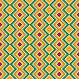 Ethnic tribal zig zag and rhombus seamless pattern Royalty Free Stock Images