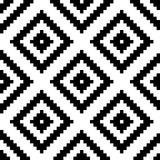 Ethnic tribal zig zag and rhombus seamless pattern. Vector illustration for beauty fashion design. Black white colors Stock Photo