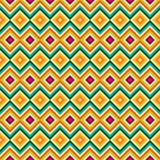 Ethnic tribal zig zag and rhombus seamless pattern Stock Images