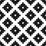 Ethnic tribal zig zag and rhombus vector seamless pattern royalty free stock photos