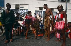 An ethnic tribe performing in Johannesburg Stock Photos