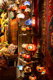 Ethnic turkish souvenirs at Grand Bazar Istanbul Stock Photos