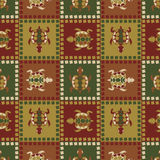 Ethnic turtle seamless pattern Stock Photos