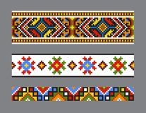 Ethnic Ukrainian seamless patterns Royalty Free Stock Photo