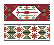 Ethnic Ukrainian seamless patterns Royalty Free Stock Photography