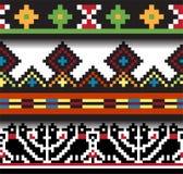 Ethnic Ukrainian seamless patterns Royalty Free Stock Photos
