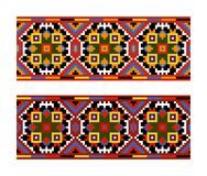 Ethnic Ukrainian seamless patterns Royalty Free Stock Images