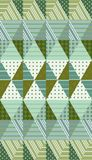 Ethnic vector background with rhombuses. Seamless patchwork pattern Stock Image