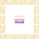 Ethnic vector frame Royalty Free Stock Photos