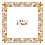 Ethnic vector frame Royalty Free Stock Photography
