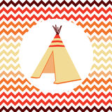 Ethnic vector illustration. Wigwam. Vector illustration of Native american home Royalty Free Stock Images