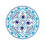 Ethnic vector logo. The ethnic circular logo. Simple logo. The brand name, emblem, logo. Mandala Logo boutique. Vintage. Islam, Arabic, Indian, ottoman Royalty Free Stock Photo