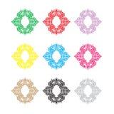Ethnic vector logo. The ethnic circular logo. Simple logo. The brand name, emblem, logo. Mandala Logo boutique. Vintage. Islam, Arabic, Indian, ottoman Stock Photos