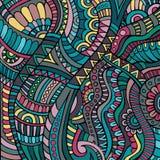 Ethnic vector pattern. Decorative green ornamental ethnic vector pattern background Stock Photos