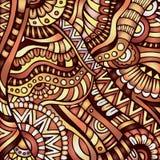 Ethnic vector pattern. Decorative orange ornamental ethnic vector pattern background Stock Images