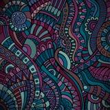 Ethnic vector pattern. Decorative purple ornamental ethnic vector pattern background Royalty Free Stock Images