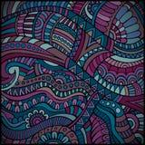 Ethnic vector pattern. Decorative violet ornamental ethnic vector pattern background Royalty Free Stock Photos