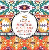 Ethnic vector pattern in mexican style. Ethnic vector colorful pattern in mexican style Royalty Free Stock Photography