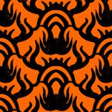 Ethnic vector pattern with tribal motifs. Royalty Free Stock Photography