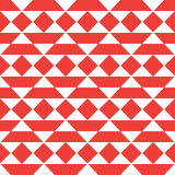 Ethnic vector seamless pattern. Vector ethnic style red color seamless pattern Royalty Free Stock Images