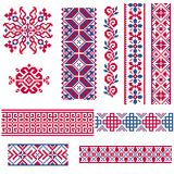 Ethnic vector seamless patterns. Stock Photography