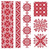 Ethnic vector seamless patterns royalty free illustration