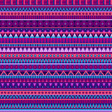 Ethnic vector various strips motifs. In different color. Seamless pattern Stock Photo
