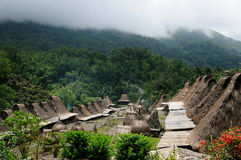 Ethnic village in Indonesia Royalty Free Stock Photo