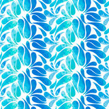 Ethnic watercolor hand drawn doodle slyle seamless pattern Stock Photos