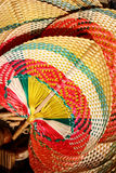 Ethnic weaved fan Stock Images