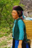 Ethnic white Hmong female. White Hmong Woman's region of Ha Giang in northern Vietnam Stock Photos