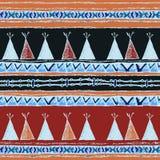 Ethnic wigwam colored seamless pattern stock illustration