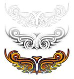 Ethnic wings tattoo set Stock Photography