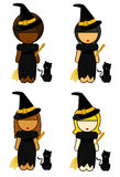 Ethnic Witch Girls Royalty Free Stock Images