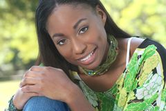 Ethnic Woman Face: African Beauty, Diversity Stock Image