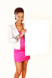 Ethnic woman -message board Royalty Free Stock Image