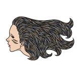 Ethnic woman portrait. Vector illustration of Stock Image