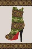 Ethnic woman shoe Stock Image