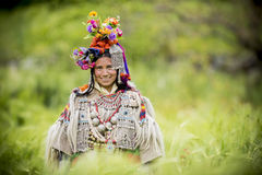 Ethnic woman in traditional dress Royalty Free Stock Photography