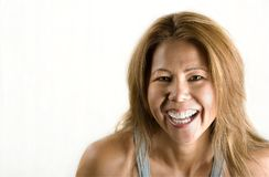 Ethnic woman on white background royalty free stock image