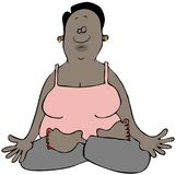 Ethnic woman in a Yoga pose Royalty Free Stock Images