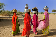 Ethnic women on the desert Stock Photography